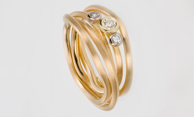 Ring in 750er Gelbgold mit Brillanten